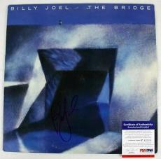 Billy Joel The Bridge Signed Album Cover W/ Vinyl PSA/DNA #P43506