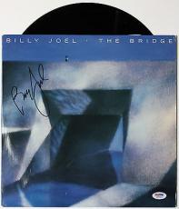 "Billy Joel ""the Bridge"" Signed Vinyl Record Album Psa/dna Authenticated W46883"