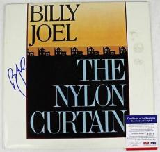 Billy Joel The Nylon Curtain Signed Album Cover W/ Vinyl Psa/dna #p43504