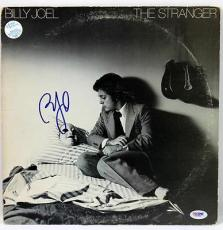 Billy Joel The Stranger Signed Album Cover W/ Vinyl Autographed Psa/dna #x31291