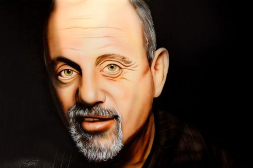 Billy Joel Un-Signed Rare Hand Painted 28x22 Canvas Painting