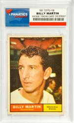 Billy Martin Atlanta Braves 1961 Topps #89 Card - Mounted Memories