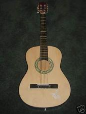 Billy Ray Cyrus Autographed Acoustic Guitar Miley Cyrus