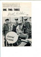 Billy Wilder One, Two, Three Broadway Play Rare Signed Autograph Playbill