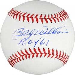 Billy Williams Autographed Baseball with ROY '61 Inscription - Mounted Memories