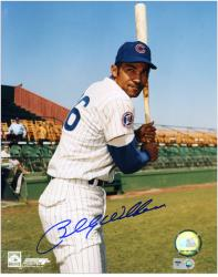 Billy Williams Chicago Cubs Autographed 8'' x 10'' Pose With Bat Photograph - Mounted Memories
