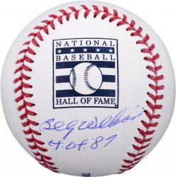"Billy Williams Chicago Cubs Autographed Hall of Fame Baseball with ""HOF 87"" Inscription"