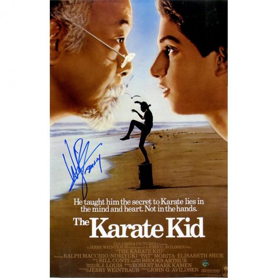 Billy Zabka Signed The Karate Kid 11x17 Poster