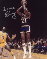 """Dave Bing Detroit Pistons Autographed 8"""" x 10"""" Jump shot Photograph"""