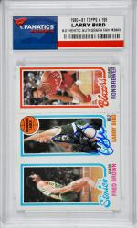 Larry Bird Boston Celtics Autographed 1980-81 Topps #198 Card - Mounted Memories