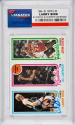 Larry Bird Boston Celtics Autographed 1980-81 Topps #23 Card - Mounted Memories