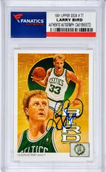 Larry Bird Boston Celtics Autographed 1991 Upper Deck #77 Card - Mounted Memories