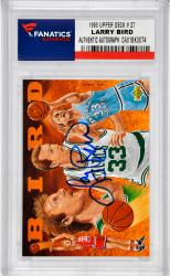 Larry Bird Boston Celtics Autographed 1993 Upper Deck #27 Card - Mounted Memories