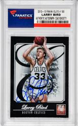 Larry Bird Boston Celtics Autographed 2012-13 Panini Elite #180 Card