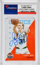Larry Bird Boston Celtics Autographed 2013 Panini Past & Present #77 Card - Mounted Memories