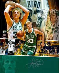 "Larry Bird Boston Celtics Autographed 16"" x 20"" Collage Photograph"