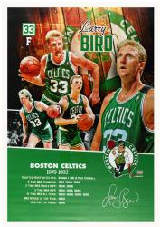 Larry Bird Boston Celtics Autographed 28'' x 40'' Canvas - Mounted Memories