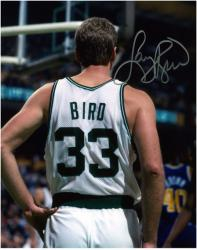 Larry Bird Boston Celtics Autographed 8'' x 10'' Vertical Buckshot Photograph - Mounted Memories