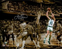 "Larry Bird Boston Celtics Autographed 11"" x 14"" Spotlight Photograph"