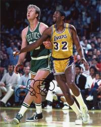Boston Celtics Larry Bird Autographed 8'' x 10'' Photo - Mounted Memories