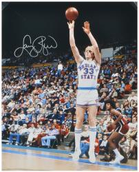 Larry Bird Indiana State Sycamores Autographed 16'' x 20'' Jump Shot Photograph - Mounted Memories