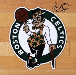 Larry Bird Boston Boston Celtics Autographed 12'' x 12'' Floor Piece - Mounted Memories