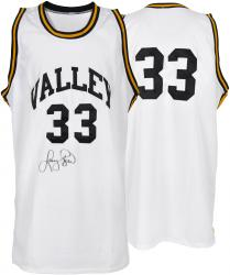 Larry Bird Spring Valley High School Autographed White Jersey - Mounted Memories