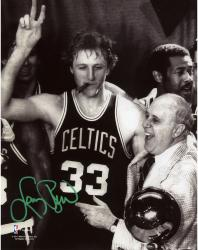 Boston Celtics Larry Bird Autographed 8'' x 10'' Photograph - Mounted Memories