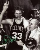 "Boston Celtics Larry Bird Autographed 8"" x 10"" Photograph"