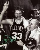 "Boston Celtics Larry Bird Autographed 8"" x 10"" Photograph"