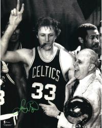 Boston Celtics Larry Bird Autographed 16'' x 20'' Photo - Mounted Memories