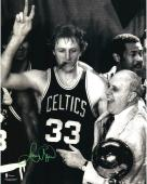 "Boston Celtics Larry Bird Autographed 16"" x 20"" Photo"