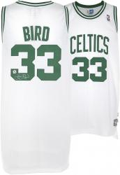 Larry Bird Boston Celtics Autographed adidas Swingman White Jersey - Mounted Memories