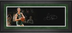 Larry Bird Boston Celtics Framed Autographed 10'' x 30'' Film Strip Photograph-Limited Edition of 33 - Mounted Memories
