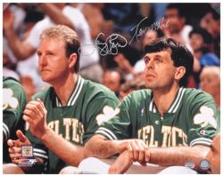 Larry Bird/Kevin McHale Autographed 16'' x 20'' Horizontal Bench Photograph - Mounted Memories