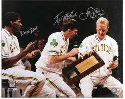 "Boston Celtics Bird, McHale, and Parish Autographed 16"" x 20"" Photo - Mounted Memories"