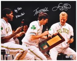 Larry Bird, Robert Parrish & Kevin McHale Boston Celtics Autographed 16'' x 20'' Photograph - Mounted Memories