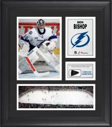 "Ben Bishop Tampa Bay Lightning Framed 15"" x 17"" Collage with Game-Used Puck-Limited Edition of 500"