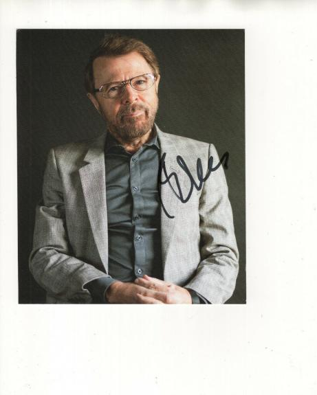 BJORN ULVAEUS HAND SIGNED 6x7 COLOR PHOTO+COA       GREAT SINGER      ABBA