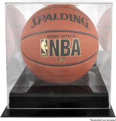 Black Base Basketball Display Case and Mirror Back - Mounted Memories  - Mounted Memories