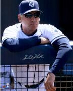 "Bud Black San Diego Padres Autographed 16"" x 20"" White Jersey Leaning Photograph"