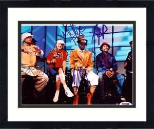 Black Eyed Peas Autographed 8x10 Photo Fergie, will.i.am, Taboo & apl.de.ap PSA/DNA #S00403