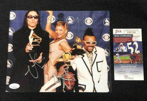 Black Eyed Peas Will.I.Am Apl.de.Ap & Taboo Signed 8x10 Photo JSA COA