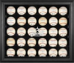 Houston Astros Logo Black Framed 30-Ball Display Case - Mounted Memories