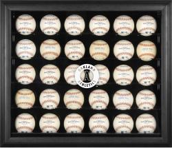 Oakland Athletics Logo Black Framed 30-Ball Display Case - Mounted Memories