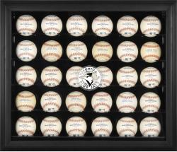 Toronto Blue Jays Logo Black Framed 30-Ball Display Case - Mounted Memories
