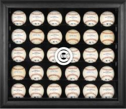 Chicago Cubs Logo Black Framed 30-Ball Display Case
