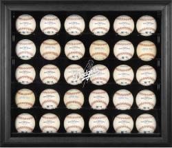 Los Angeles Dodgers Logo Black Framed 30-Ball Display Case
