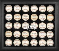 San Francisco Giants Logo Black Framed 30-Ball Display Case - Mounted Memories