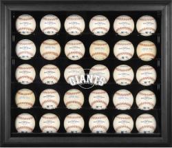 San Francisco Giants Logo Black Framed 30-Ball Display Case